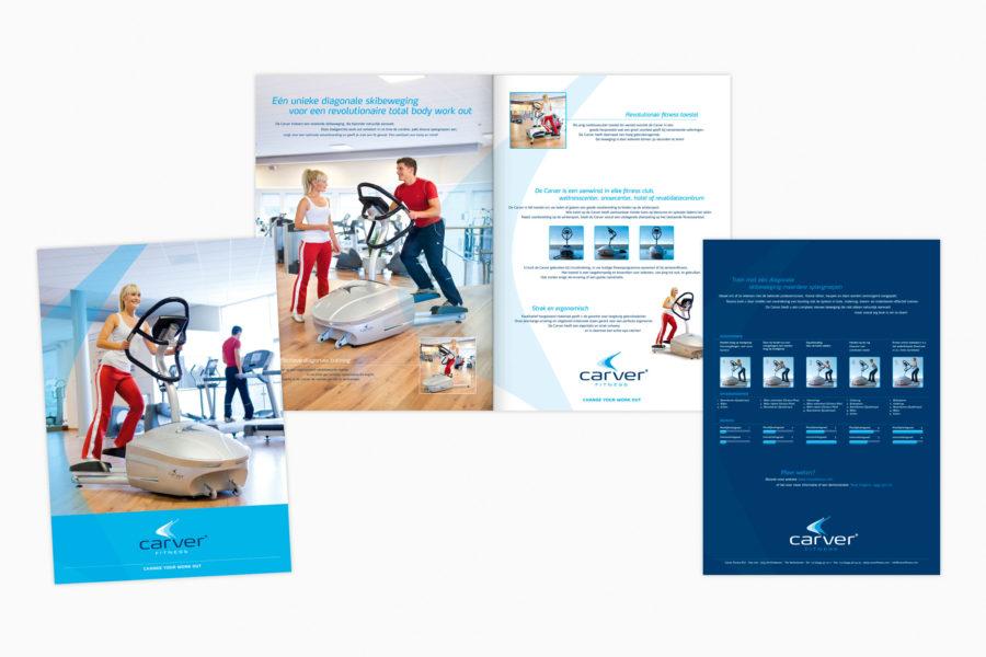 Carver Fitness | Identiteit en productbrochure