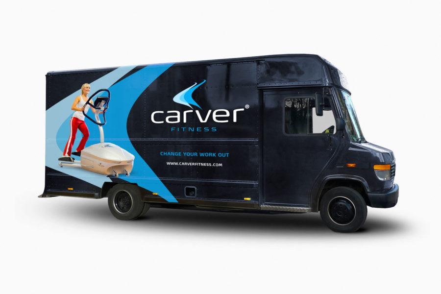 Carver Fitness | Identiteit en bestickering demobus