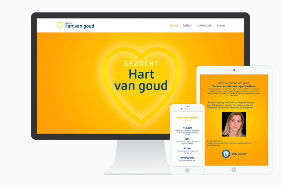 Hart van goud I Identiteit en website