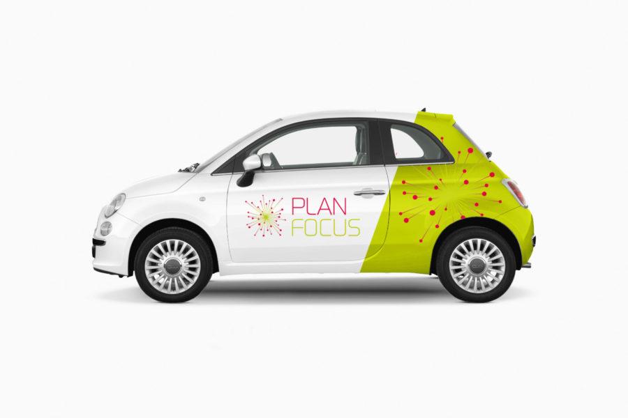 Plan Focus | Identiteit | Bestickering auto